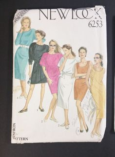 New Look Pattern 6253 6 sizes in one 8  18 by CasssOddsandEnds