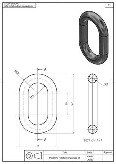 : How to make a part on Solidworks, Exercice Autocad Isometric Drawing, Isometric Drawing Exercises, Mechanical Engineering Design, Mechanical Design, Interesting Drawings, Detailed Drawings, Solidworks Tutorial, Drawing Skills, Drawing Practice