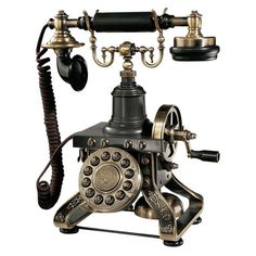 Touch-tone telephone with die-cast detail and an antiqued bronze finish.    Product: Telephone   Construction Material:...