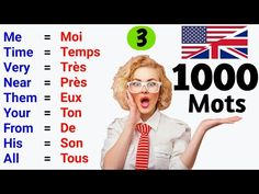 1000 mots les plus utilisés en anglais ✪ ● 1000 Most used words in English ✪ Part 3 Speak English Fluently, English Vocabulary, English Language, French Lessons, English Lessons, Learn English, English For Beginners, French Verbs, French Expressions