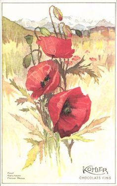 Postkarte Chocolat Kohler 1924