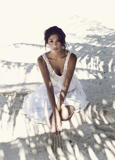 Perfect beach wedding dress. via A #Summer Sundress / Wedding Style Inspiration / LANE (PS follow us on Instagram: the_lane)