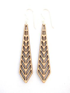 Chevron, Laser Cut Earrings