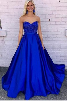 A-Line Prom Dress, Evening Dress Long, Prom Dresses Long, Prom Dress Blue #ALinePromDress #EveningDressLong #PromDressesLong #PromDressBlue