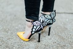 cute heels with butterflies