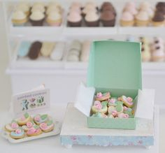 Sweet Petite Miniature Rose Cookies by SweetPetiteShoppe on Etsy
