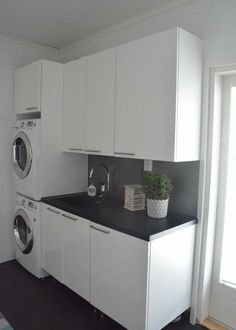 Stacked Washer Dryer, Washer And Dryer, Laundry, Home Appliances, Deco, Bathroom, Laundry Room, House Appliances, Washroom