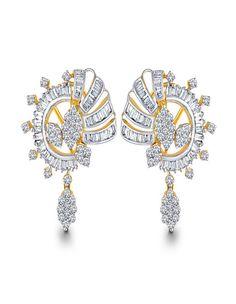 Dew Drop Studded Earrings | diamonds4you.com A cute combination of hoops and drops- A round diamond set in a tear drop shaped gold frame is suspended from diamond studded hoops. - See more at: http://www.diamonds4you.com/item/21211213.aspx#sthash.bmM2WNXo.dpuf