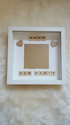 Personalised Hen Party Scrabble frame