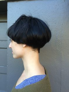 This is one of my clients that comes in every six weeks. She had medium length hair before she decided to have a bowl cut done. I did an undercut around her ears with shears, shaved the back with a #2 and did a lot of texturizing.