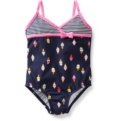 1-Piece Print Swimsuit Carter's ($24) ❤ liked on Polyvore featuring kids and swim