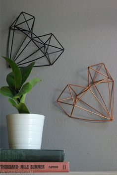 Oleander and Palm: Geometric Himmeli Heart Tutorial DIY Geometric Heart, Geometric Wall Art, Heart Crafts, Diy Tutorial, Diy Home Decor, Diy And Crafts, Wall Decor, Room Decor, Inspiration