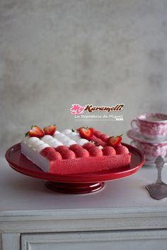 Mousse de Chocolate Blanco y Fresa - Blog My Karamelli Eclairs, Macarons, Cereal, Raspberry, Fresh, Breakfast, Sweet, Blog, Sweet Recipes