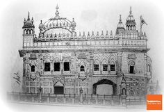 A pencil sketch of Golden Temple. Originally named Darbar Sahib and popular by the name of Harmandir Sahib in Amritsar, India. #GoldenTemple #India #Sikh #Sikhism