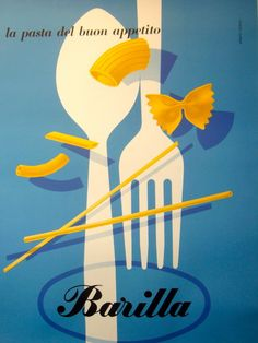 "Pasta. Poster. (""la pasta del buon appetito,"" as you might say at a moment like this.)"