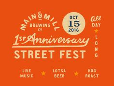 MMBC First Anniversary Street Fest by M. Frances Foster #Design Popular #Dribbble #shots
