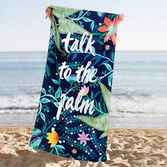 Talk To The Palm Beach Towel