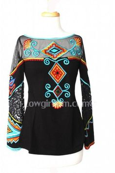 Vintage Collection apparel-skirts, mesh tops, tunics, dusters. Embroidered top, cowgirl fashion and western wear. http://www.cowgirlkim.com/vintage-collection-vibrant-embroidered-butterfly-knit-top.html
