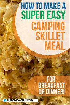 The best easy skillet breakfast is an easy meal perfect for camping or hunting. Save time and cleanup by using just one pan for the entire mixing and cooking process. One taste of this simple skillet breakfast recipe and you will be hooked. The is one of the easiest and tastiest skillet breakfast recipes ever. Make it cheesy, with add-in options like bacon, sausage, fresh vegetables and potatoes. This hashbrown breakfast skillet recipe will feed even the hungriest crowd. Great for dinner… Hashbrown Breakfast, Breakfast Skillet, Breakfast Recipes, Fun Easy Recipes, Easy Salad Recipes, Easy Salads, Easy Weeknight Meals, Easy Meals, Making Half A Recipe