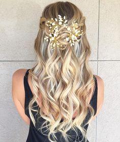 Fairytale hair. Styled by @thomastimes #hair #hairenvy #hairstyles #weddinghair #bride #bridalhair #updos #updo #newandnow #inspiration…