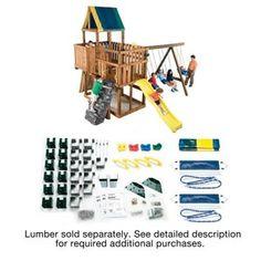 Swing-N-Slide Kodiak Swing Set Kit Wooden Playhouse Kits, Build A Playhouse, Wooden Playset, Swing Set Kits, Swing Sets, Swing Set Hardware, Backyard Playset, Best Gifts For Tweens, Swing And Slide