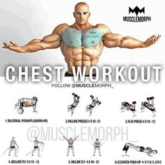 Is your chest lagging? Try this workout SAVE it so you can use it at the gymLIKE and FOLLOW @musclemorph_ for more exercise & nutrition tips TAG A GYM BUDDY . Enhance Your Progress with high quality supps from MuscleMorph click the link in our bio to get yours today @musclemorph_ ➡MuscleMorphSupps.com #MuscleMorph