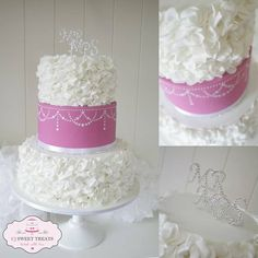 Ruffles, Ruffles and more Ruffles Cake by cjsweettreats