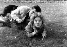 Alain Delon and Romy Schneider in Tancrou 1959