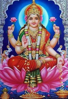 Dhana Lakshmi (Reprint on Paper - Unframed) Shiva Parvati Images, Durga Images, Lakshmi Images, Lord Krishna Images, All God Images, Lord Rama Images, Hd Images, Indian Goddess Kali, Indian Gods