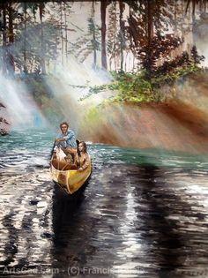Artwork >> Francis Ketele >> Kayaking on the Lesse