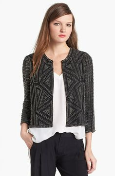 Parker 'Architect' Beaded Crop Jacket available at #Nordstrom