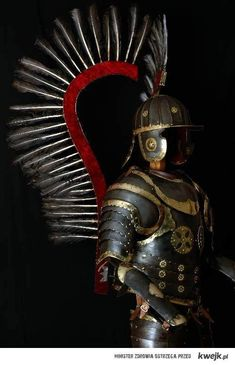 Elite Polish Hussar armor with wings from century. Highly decorated noble armor of the lethal Hussar cavalry. Helmet Armor, Suit Of Armor, Arm Armor, Armadura Medieval, Ancient Armor, Medieval Armor, Renaissance, Samurai, Landsknecht