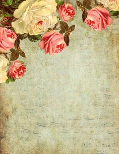 Lilac & Lavender ~ Free Roses and Sheet Music Paper PLUS Free Matching Tags