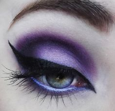 artistic purple eyeshadow- ooooh Halloween! If I don't do Wonder Woman. Would be good for a witch.                                                                                                                                                                                 More