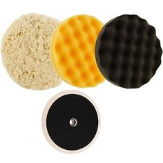 """TCP Global Complete 3 Pad Buffing and Polishing Kit with 3-8/"""" Waffle Foam Gri..."""