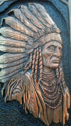 INDIAN CHIEF Wall Art Key Holder by TreeBoneCreations on Etsy, $460.00