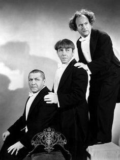 Curly Howard, Moe Howard, Larry Fine – The Three Stooges
