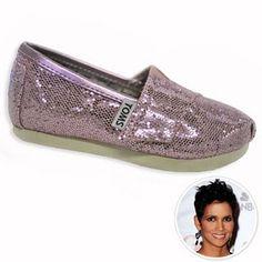 Tomine har nye sko, Pink sparkly Tiny TOMS