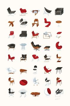 Iconic Furniture Poster