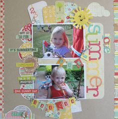 SUMMER - Scrapbook.com - What a happy and fun summertime layout! #scrapbooking #memoryworks