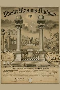 Master Masons Diploma. High quality vintage art reproduction by Buyenlarge. One of many rare and wonderful images brought forward in time. I hope they bring you pleasure each and every time you look a