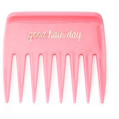 FOREVER 21 Good Hair Day Comb (24.775 IDR) ❤ liked on Polyvore featuring beauty products, haircare, hair styling tools, brushes & combs, pink, hair comb, forever 21, hair brush comb and brush comb