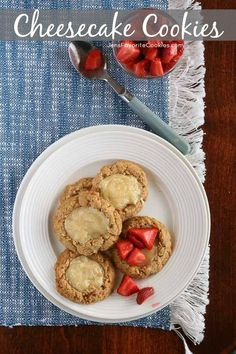 Cheesecake Cookies from JensFavoriteCookies.com - like mini cheesecakes!  Perfect with fresh berries!