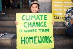 Charlie from Sydney joints climate protest in Adelaide