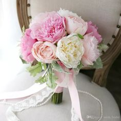 CHarming Pink Peony Bridal Bouquets Holding Brooch Flowers 2017 Artifical Exquisite Cheap Wedding Decoration Artificial Bridesmaid Flowers Bride Holding Brooch Bouquet Mori Bride Bouquet Artificial Wedding Bouquet Online with $100.58/Piece on Sarah_bridal's Store | DHgate.com