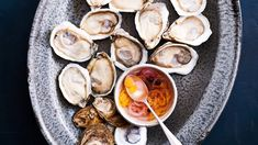 Though excellent with cold raw oysters, this lively sauce can also be drizzled onto crab cakes, or added to crab dip or oyster stew for a little extra zip. Raw Oysters, Fresh Oysters, Milk Recipes, Sauce Recipes, Veggie Recipes, Veggie Food, Free Recipes, Vegan Chocolate, Cooking