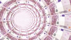 #Tunnel towards a light textured with 500 #euro banknotes – CreativityGems