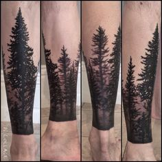 Trees! #bodyart #blacktattoos #blackandgrey #trees #louisvilleart #louisvilletattoo #tattooedlife