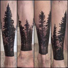 Trees! #bodyart #blacktattoos #blackandgrey #trees #louisvilleart #louisvilletattoo #tattooedlife