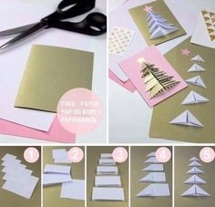Make sure you give everyone some handmade Christmas cards this year! Look through our selection of 40 homemade Christmas card ideas. Homemade Christmas Cards, Christmas Crafts For Kids, Handmade Christmas, Christmas Diy, Christmas Tree Cutting, Christmas Origami, Christmas Gift Wrapping, Natal Diy, Theme Noel